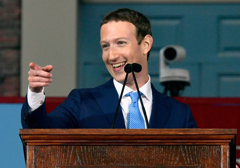 CAMBRIDGE, MA – MAY 25:  Facebook Founder and CEO Mark Zuckerberg delivers the commencement address at the Alumni Exercises at Harvard's 366th commencement exercises on May 25, 2017 in Cambridge, Massachusetts. Zuckerberg studied computer science at Harvard before leaving to move Facebook to Paolo Alto, CA. He returned to the campus this week to his former dorm room and live streamed his visit.  (Photo by Paul Marotta/Getty Images)