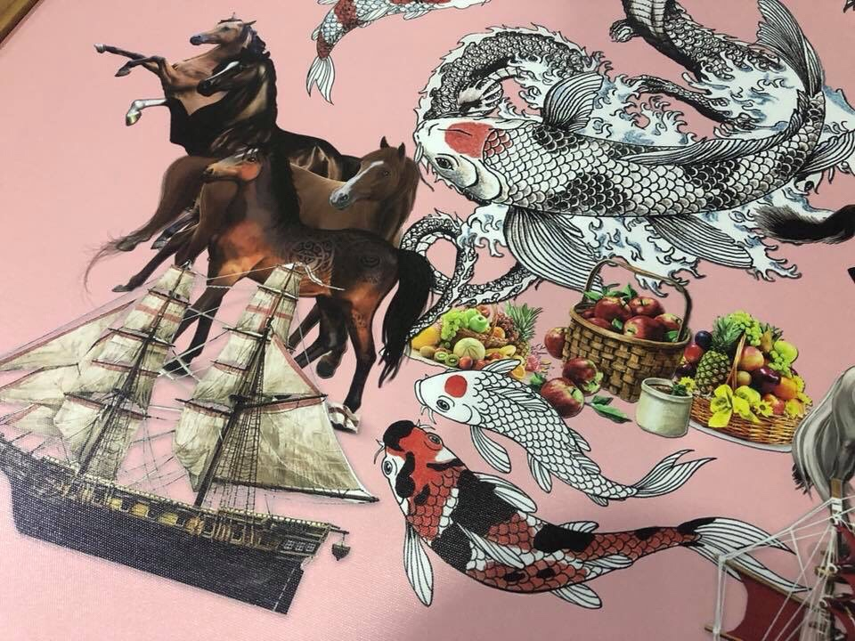 Collage ภาพสัตว์มงคล ตามศาสตร์ความเชื่อของจีน ด้านค้าขาย ผลงาน โดย ดร.ธีรศานต์ สหัสสพาศน์